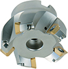 A58005: Insert milling cutter, for 45° faces, with sleeve mount; TKN