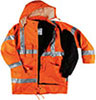 S07030: High visibility coat; NO LABEL