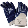 S10350: Cotton gloves, 3/4 coated with blue nitrile, safety wrist fastener; HONEYWELL