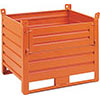 V55005: Stackable sheet metal container with door; SALL