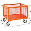 V55035: Stackable net container with wheels; SALL