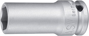 N11205: Impact series socket wrench with hex socket, long series; ASW