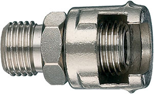 R80565: Male connector with milled nut; ANI