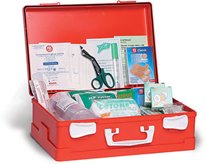 S55410: First aid case; NO LABEL